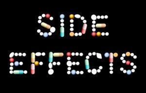 side effects écrit avec des comprimés